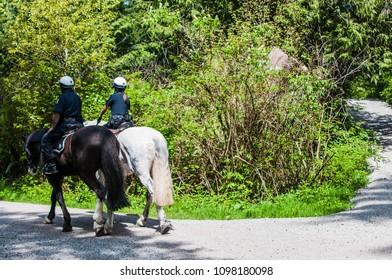 Police Horsemen in Canada, Stanley Park