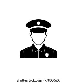 Police Icon. Characters of professions Icon. Premium quality graphic design. Signs, symbols collection, simple icon for websites, web design, mobile app on the white background