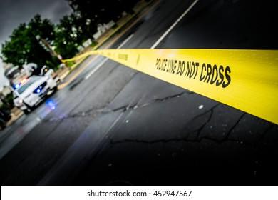Police Lane, blurred