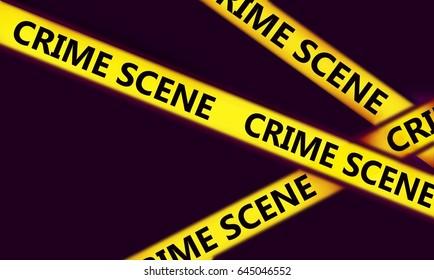 police line in crime scene  investigation