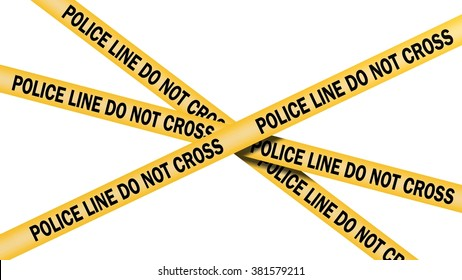 Police Line Do not Cross - isolated