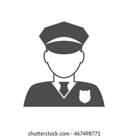 Police officer avatar icon. Trendy policeman icon in flat line style