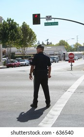 Police Officer Directing Traffic