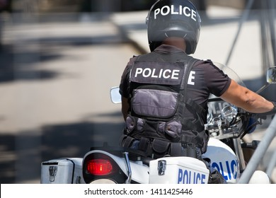 police officer on police bike, motorcycle