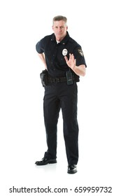 Police: Officer Says Halt With Hand On Gun