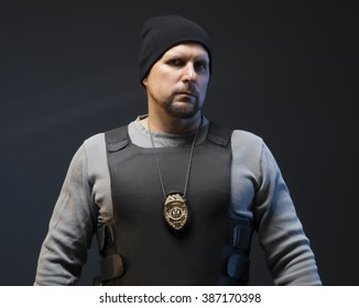 Police officer undercover.