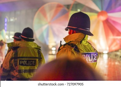 Police Officers provide security at a festival in Doncaster, Yorkshire, England, UK
