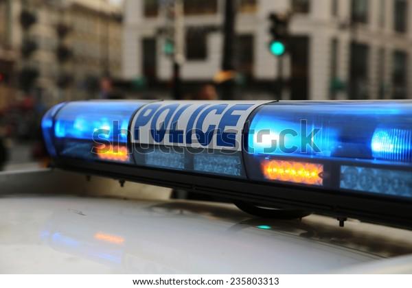 Police in Paris. France