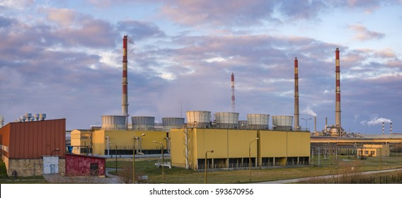 Police, Poland-February 2017: chemical plant in Police
