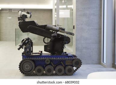 The police robot for working with bomb.