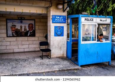 Police Station  in BETHLEHEM, PALESTINIAN TERRITORIES. 11-09-2015