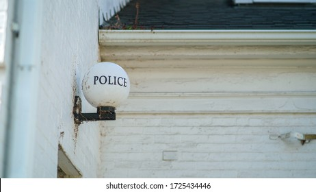 Police Station Sign Light Bulb