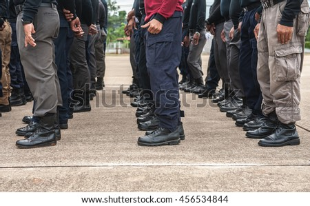 Police Tactical Training Police Annual Review Stock Photo (Edit Now