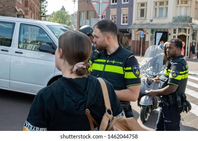 Police Takes Scooters From The Road At Amsterdam The Netherlands 2019