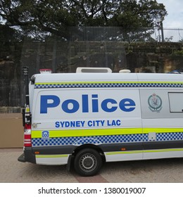 Police Van on the forecourt of Sydney Opera House, New South Wales, Australia. Photo taken on 28 February 2019.