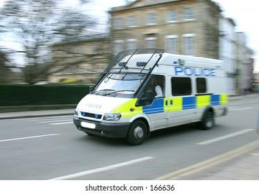 police van panned