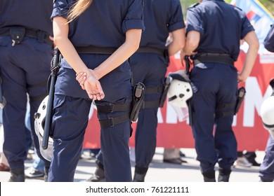Police woman. Law enforcement.