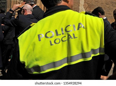 A policeman officer of Seville municipal police