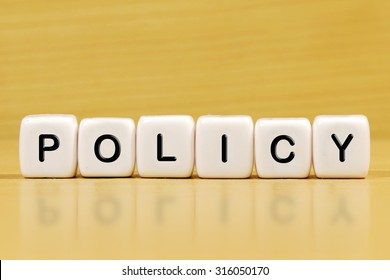 POLICY word on blocks