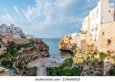 Polignano di Mare Italy on the Adriatic Sea Coast