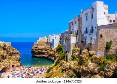Polignano a Mare - Bari province - Apulia - Italy - south italy sea village lagoon