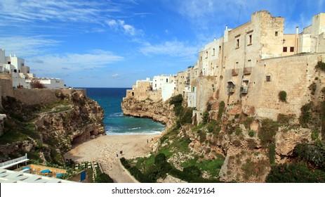 Polignano a Mare coastal town in Italy