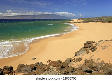 Polihua Beach - Island of Lanai - Hawaii (Island of Maui on Horizon)