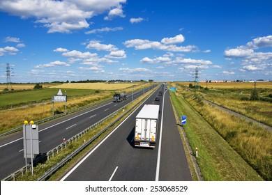 Polish A4 motorway near Gliwice