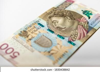 polish banknote paper money 500 PLN zloty