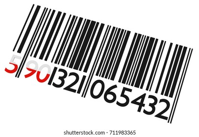 Polish bar code on a white background