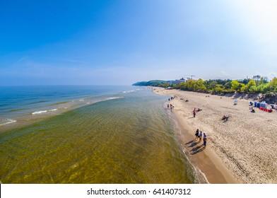 Polish Coast - City of Miedzyzdroje - Baltic Sea (fish-eye)