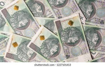 Polish currency, Polish zloty.  PLN