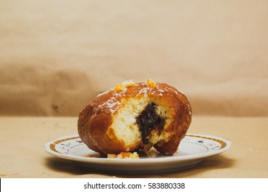 Polish doughnut with confiture