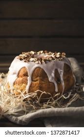 Polish easter babka cake