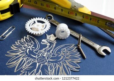 Polish emblem and tools for repair