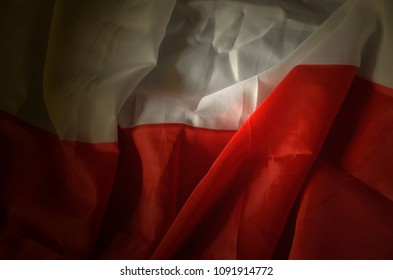 Polish flag background