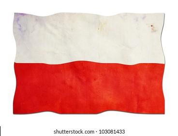 Polish Flag made of Paper