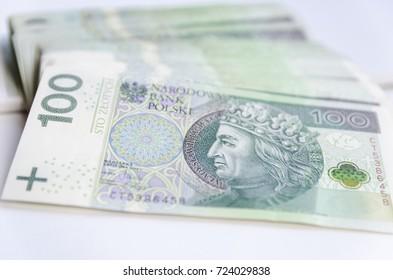Polish hundred zlotys PLN