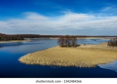 Polish Lakes on winter