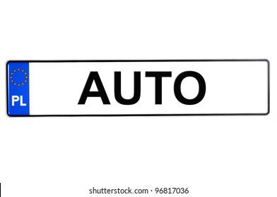 Polish license plates