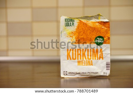 Polish Lidl Brand Curcuma Spice Opened Stock Photo Edit Now