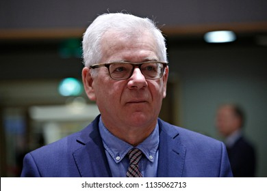 Polish Minister of Foreign Affairs Jacek Czaputowicz attends a European Union foreign ministers meeting in Brussels, Belgium July 16, 2018.