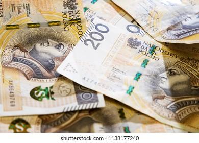 polish money background, 200