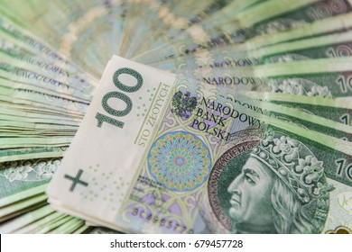 Polish money, banknote 100 PLN, Polish Zloty
