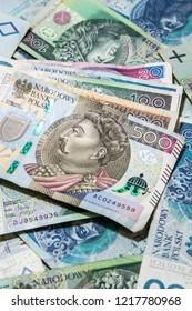Polish money banknotes