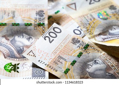 Polish money. financial background. business concept