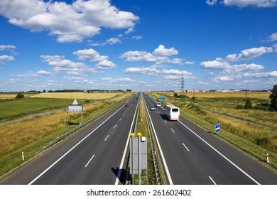 Polish motorway  A4  near Gliwice