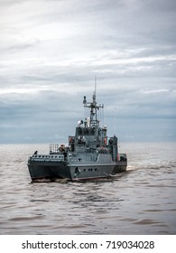 Polish Navy patrol ship patroling Polish Baltic Sea