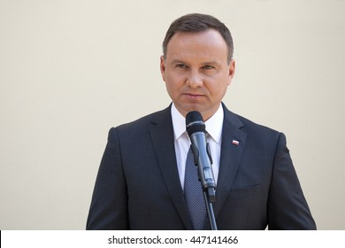 Polish President Andrzej Duda has spoken out against anti-Semitism, racism and xenophobia at the anniversary of a 1946 massacre of Jews in Kielce, southern Poland. 04-07-1016 Kielce, Poland.