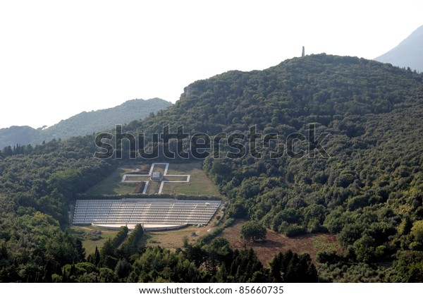 Polish soldiers' cemetery in Monte Cassino-Italy
